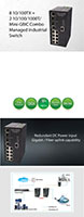 Cadyce Mini-Gigabit Interface Converter (GBIC) Combo Managed Industrial Switches - 2
